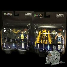 "ALIENS Minimates Deluxe ALIEN QUEEN & POWER LOADER Sets Alien WARRIOR 2"" FIgure!"