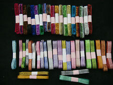 JOB LOT 15 metres 6mm 10mm SPARKLY GLITTER & GLITTER VELVET RIBBON 15 X1m RANDOM