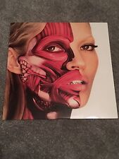 "DAMIEN HIRST RARE KATE MOSS WHITE 12"" LITHOGRAPH VINYL LTD 666 WORLDWIDE, BANKSY"