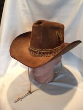 B11) Stetson Brown Cowboy Hat 6 7/8 The Billy The Kidd Felt Rodeo Horse Show GRT