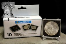 20 ✯ Morgan Silver Dollar Coin Snap Capsule 38mm LIGHTHOUSE QUADRUM 2x2 Case