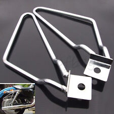 Universal Saddle Bag Support Bar Mount Bracket Chrome For Harley Sportster 883