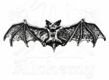 NWT Darkling Vampire Dracula Bat Hair Slide Pewter Barrette Alchemy Gothic HH1