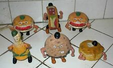 (6) FOOD FIGHTERS,1988 Mattel,Burgerdier,Lt Legg,Taco Terror,Chip Rip,ShortStack