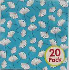 Modern Designs Motif Horizon Floral Garden Party Paper Beverage Napkins - Blue