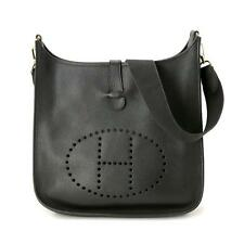 Auth HERMES Evelyne 1 GM Ardenne Black Shoulder Bag Leather Purse 70181737