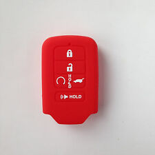 Car Smart Keyless Key Sets Cover Silicone Red  For 2015 Honda Civic Accord Pilot