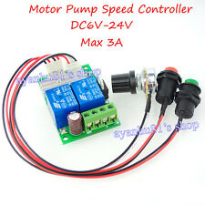 DC 6-24V 3A PWM Push Rod Motor Speed Controller Regulator CW CCW Switch Control
