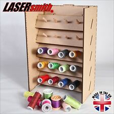 Cotton sewing reel thread spool holder, wall stackable, organiser, sew tidy
