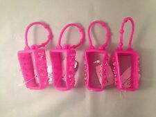 4 Bath Body Works Pink Pocketbac Holders Hand Gel Sanitizer Holder Rhinestones
