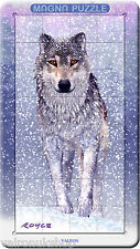 AMAZING SNOW WOLF 3D MAGNETIC JIGSAW PUZZLE IN METAL TIN CAN BE MADE ANYWHERE