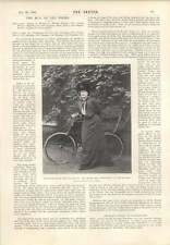 1901 Miss Rose Dupre Bicycle Pose