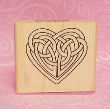 Celtic Knot Heart Rubber Stamp * Valentine Wedding Engagement Love
