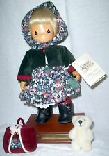 Precious Moments Carved Face Immigrant Musical Doll Natasha LE 989/1000 NIB