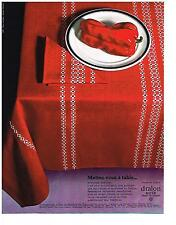 PUBLICITE  1969   DRALON BAYER  nappes linge de maison