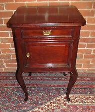 VICTORIAN QUEEN ANNE STYLE MAHOGANY NIGHTSTAND WITH RAISED PANEL SIDES