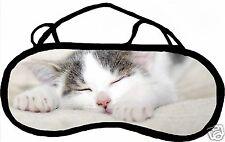 Masque de sommeil cache yeux anti lumière fatigue chat personnalisable REF 36