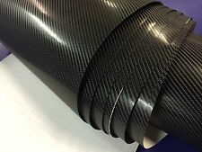 4D Black CARBON FIBRE VINYL 1520MM(59.8in) x 600MM(23.6in) WRAP FILM STICKER