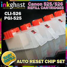 Empty Refillable Cartridge set compatible with  CANON PGI-520BK CLI-521