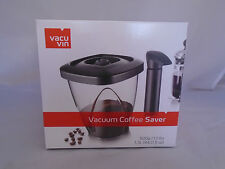 Vacu Vin Vacuum Coffee Saver Black 500g incl Pump NEW