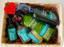 New Bath & Body Works Stress Relief Eucalyptus Spearmint 5 piece Gift Basket