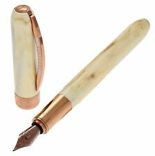 VISCONTI fountain pen Rembrandt Ivory color / Bronze - NIB (Broad)