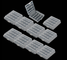 10 x New Hard Plastic Case Cover Holder AA  Battery Storage Box