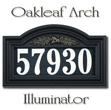 Whitehall Illuminated Oakleaf Arch Custom Address Sign for Nighttime Visibility