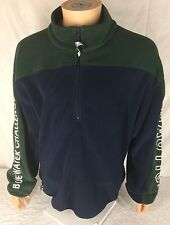 Vtg Nautica Blue Water Challenge Fleece XL Sailing 90s 1/2 Zip Green Pullover