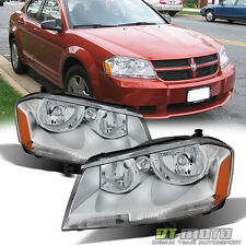 2008-2014 Dodge Avenger SXT SE Replacement Headlights Headlamps 08-14 Left+Right