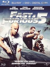 Fast & Furious 5 - Vin Diesel/Dwayne Johnson Slip Case Dvd & Blu Ray Perfetto
