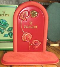 GENUINE ROLEX SHOP WINDOW DISPLAY STAND FOR WATCH LEATHER AND SUEDE FLOWER LARGE