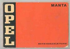 1971 1972 Opel Manta 1600 1900 LSR ORIGINAL Owner's Manual German wt1528-KH1ZLC