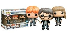 "EXCLUSIVE HARRY POTTER 3 PACK HARRY, RON, HERMIONE 3.75"" POP VINYL FIGURE FUNKO"