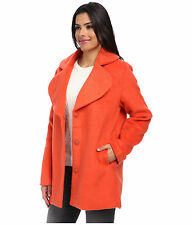Minkpink Orange Wander And Wonder Felt Wool Soft Coat Jacket  S M  New