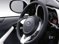 Genuine Ford Ka Leather Steering Wheel - Black Leather / Pearl White (1573470)
