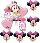 MINNIE MOUSE BABY SHOWER PARTY BALLOONS BOUQUET AND MINI SHAPE BALLOONS