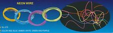 New 12V 6' EL Wire Flexible Neon Glow Light  Blue, Amber, Red and Purple