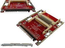 Adaptateur 2x Compact Flash CF vers IDE 2.5  CERTIFIE UDMA - Avec Chassis Métal