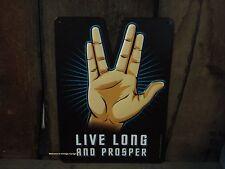 NEW METAL LIVE LONG PROSPER DECOR vulcan salute star trek spock ring finger art
