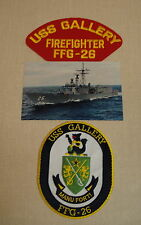 U.S. NAVY, USS GALLERY FAST FRIGATE ( FFG) 26 COLLECTOR SET, PATCHES AND PHOTO