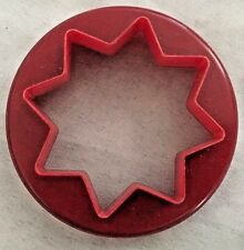 "Red Double Sized 3"" Star & Round Cookie Cutter Art Mold"