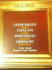 LP VINILE NUOVO D'EPOCA LEONCAVALLO/CATALANI/PONCHIELLI /GIORDANO CALLAS