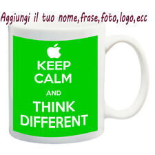 MUG TAZZA KEEP CALM- THINK DIFFERENT PERSONALIZZATA CON NOME FRASE,FOTO - IDEA R