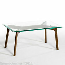 BNIB, La Redoute, AM.PM. Kristal Glass and Walnut Coffee Table Free P&P RRP £119