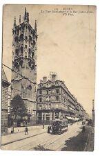 rouen , la tour saint-andré et la rue jeanne d'arc