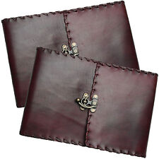 "REDUCED 11"" Real Leather Handmade Vintage Journal Sketchbook - Cartridge Paper"