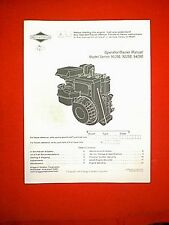 BRIGGS & STRATTON  ENGINE MODEL SERIES 91200 92200 94200 OPERATOR / OWNER MANUAL
