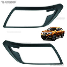 Matte Black Head Light Front Lamp Cover For Nissan Navara Np300 Ute 2015 2016