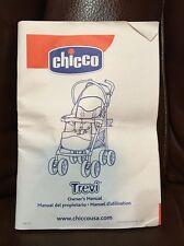Chicco Trevi Stroller Owner's Instructions Manual FREE SHIPPING